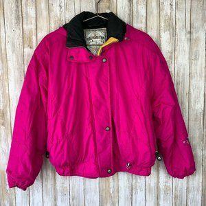 Obermeyer Womens Pink Ski Jacket Retro Vintage 10